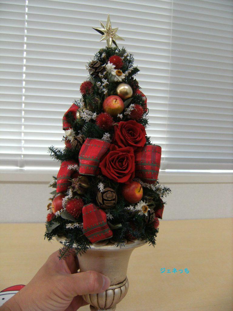 クリスマスツリーを持つ