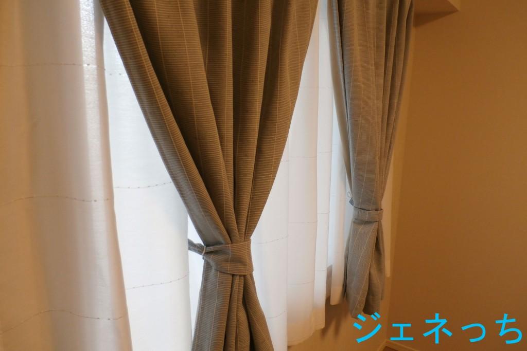木立柄のカーテン