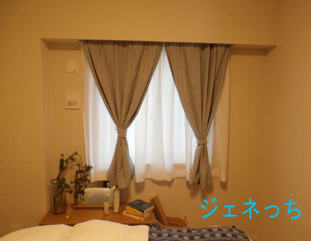 寝室の窓際